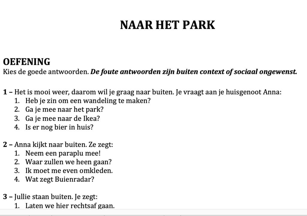 Dutch conversation script